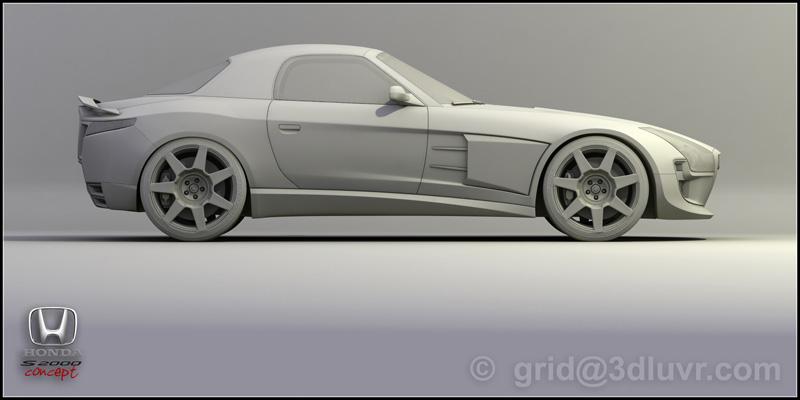 3D: Honda S2000 concept